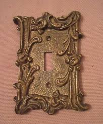 antique switch plates. Wonderful Antique Rare Antique Ornate Thick Solid Brass Light Switch Plate Electric Outlet  Cover On Antique Switch Plates E