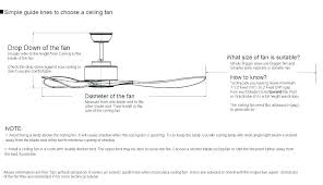 ceiling fan height clearance what size how to choose a sizes standard india choosing based up