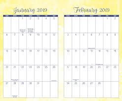 monthly weekly calendar posh sunshine splash 2018 2019 monthly weekly planning calendar