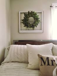 Old Window Frame Decor Diy Greenery Wreath On An Old Window Frame My Pins Pinterest