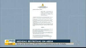 Bom Dia Paraíba | Bares são fechados por 30 dias, em novo decreto publicado  pela prefeitura de Areia