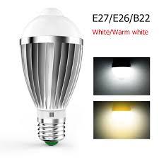 Ebay Light Bulbs Details About Globe Motion Sensor Led Bulb Dc85 265v 7w 5630smd 14led Auto On Off Light Bulb
