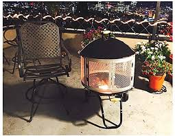 Amazon Com Fire Pit 27 Inches Heavy Duty Large Portable Wheels Lightweight Resistant Wood Camp Outdoor Spark Screen Burner Rustic Heater Bowl Ebook Garden Outdoor