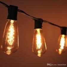 edison bulb outdoor string lights vintage look edison bulb clear string light 10 socket outdoor patio