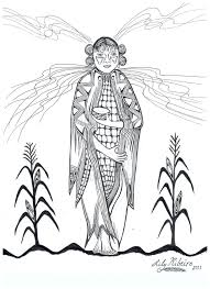 Corn Maiden Coloring Page Google Search
