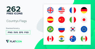 Countrys <b>Flags</b> +260 free icons (SVG, EPS, PSD, PNG files)