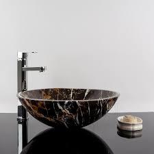 bathroom sink portoro gold marble 42 x 14 cm