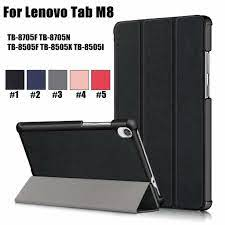 Bao Da Nắp Gập Siêu Mỏng Cho Máy Tính Bảng Lenovo Tab M8 Fhd Tb-8705F  Tb-8705N Tb-8505F Tb-8505I