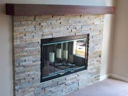 natural stacked stone fireplace contemporary living room