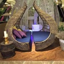 circular furniture. Bird\u2032s Nest Sunshine Lounge Beach Circular Dome Garden Furniture Rattan Sunbed T585 E