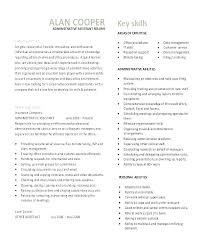 Resume Objective For Administrative Assistant Back Office Resume ...