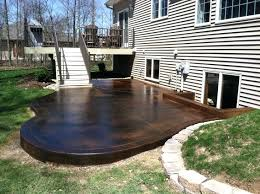 stained concrete patio. Staining Outdoor Concrete Stained Patio Acid Stain  Stained Concrete Patio