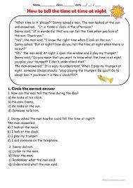 Time Worksheets » Night Time Worksheets - Free Printable ...