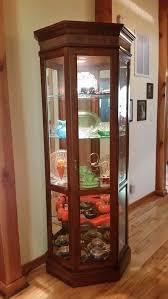 details about jasper cabinet co lighted wood ginger curio cabinet