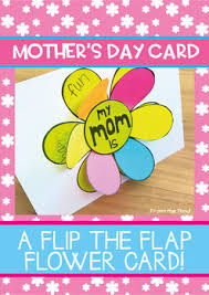 Mothers Day Card A Flip The Flap Flower Card For Mom And Mum