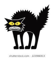 scared black cat clipart. Brilliant Clipart Vector Cartoon Black Cat Isolated On Blank Space Scared Clipart P