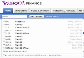 Stock Quotes Yahoo