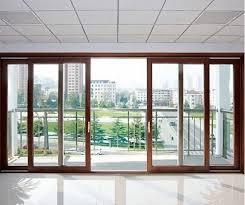 saint gobain brown sliding glass door
