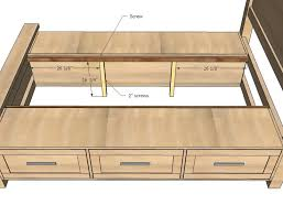 DIY Projects Farmhouse Storage Bed with Storage Drawers Woodworking Plans  by Ana White