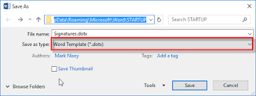 dotx file extension inserting a signature into a document mark nixey