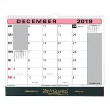 Year At A Glance Calendars At A Glance 2019 Flip Over Wall Calendar Month To View 330x276mm Assorted 90m 2019