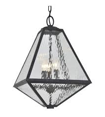 crystorama gla 9705 wt bc glacier 3 light 14 inch black charcoal outdoor chandelier in water