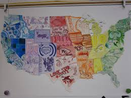 Large Us Map Poster Pin On Too Many Years Teaching Middle School Art Students