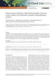Pdf Range Extension Of Northern Naked Tailed Armadillo Centralis Miller 1899 Mammalia Cingulata Chlamyphoridae In Belize