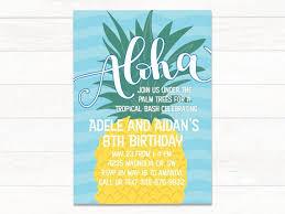 Printable Luau Birthday Invitations Pineapple Luau Birthday