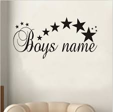Kids Bedroom Wall Murals Magnificent Customized Stars Any Name Vinyl Wall Sticker Art Decal Boys Bedroom