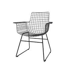 wire furniture. HK Living Scandinavian Black Metal Chair Wire - Furniture
