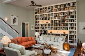 View in gallery A wall of books for the living room [Design: Smith &  Vansant Architects]
