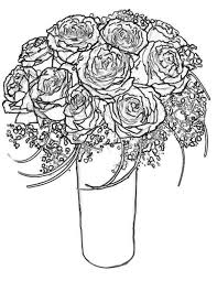 Small Picture Rose Bouquet for Wife Coloring Page Download Print Online