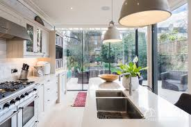 The Victorian Kitchen Company Pcw Opens The Corner Of Victorian Kitchen Extension With Slim