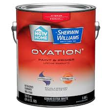 home by sherwin williams ovation white eggs latex interior paint and primer in one