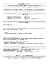 Electricians Resume Samples Free Guide Electrical Maintenance Resume