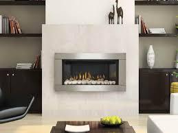 white stone fireplace finishing