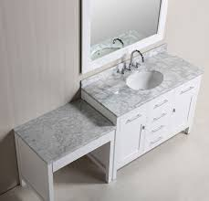 48quot london single sink vanity set in white finish with bathroom vanity with makeup table