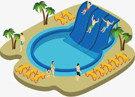 Swimming Pool Vector Diagram Hand Swimming Pool Slide PNG and