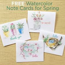 Spring Photo Cards Free Spring Watercolor Note Cards Printable Greeting Cards