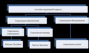 Курсовая работа Механизм и основные направления социальной защиты  Рис 1 1 Основные направления системы социальной защиты