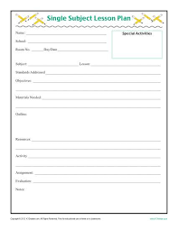 Download Lesson Plan Template One Day Lesson Plan Template 5 Free Lesson Plan Templates Free