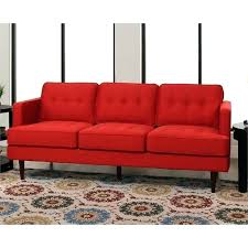 red leather on tufted sofa engage upholstered atomic sofas mid century in sf