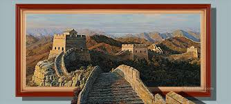 chinese great wall 3d painting