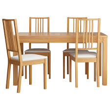modern ikea dining chairs. IKEA BJURSTA BORJE Table And 4 Chairs Oak Veneer Gobo White 140 Cm Extendable Dining With Modern Ikea H