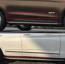 4pcs chrome car body side door molding trim fit for mercedes benz glc coupe 2018
