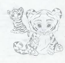 white tiger cubs drawing. Interesting Drawing 2 White Tiger Cubs By Ezrawolfone  Throughout White Tiger Cubs Drawing