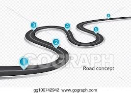 Vector Stock Winding 3d Road Infographic Concept On A White