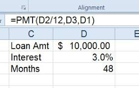 loan formulas use excel pmt formula to determine loan interest pryor learning
