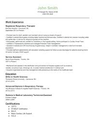 Respiratory Therapist Resume Sample Cool Respiratory Therapist Resume Templates To Sample Respiratory Therapy